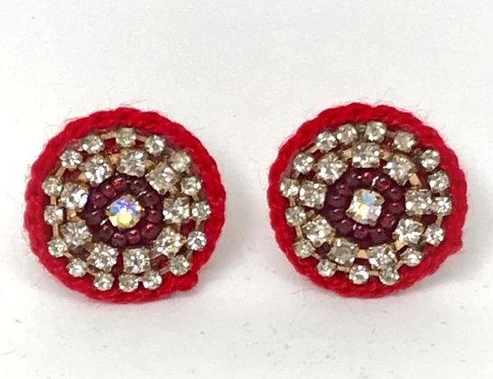 Aretes Crochet Rojo