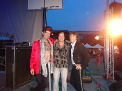 Chillin' out with Stones cover band.