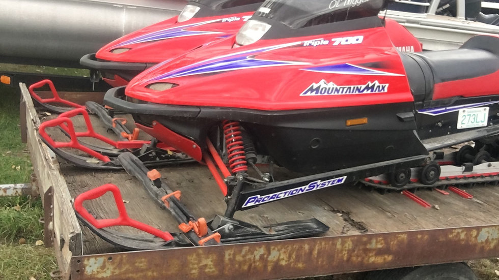 Two-1998 YAMAHA TRIPLE 700 MOUNTAIN MAX