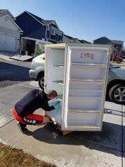 Refinishing a freezer we found on FB marketplace