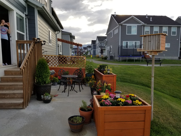 Our finished patio garden!