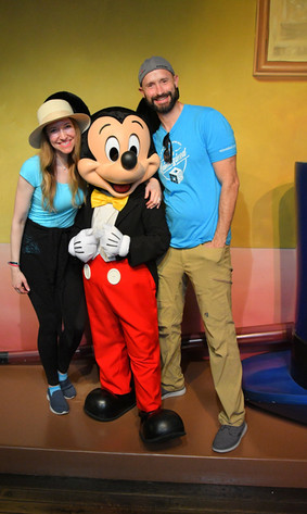 April & Dave with Mickey