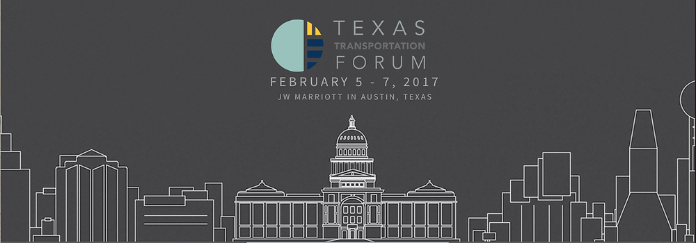 Primary Design Banner of the 2017 Texas Transportation Forum