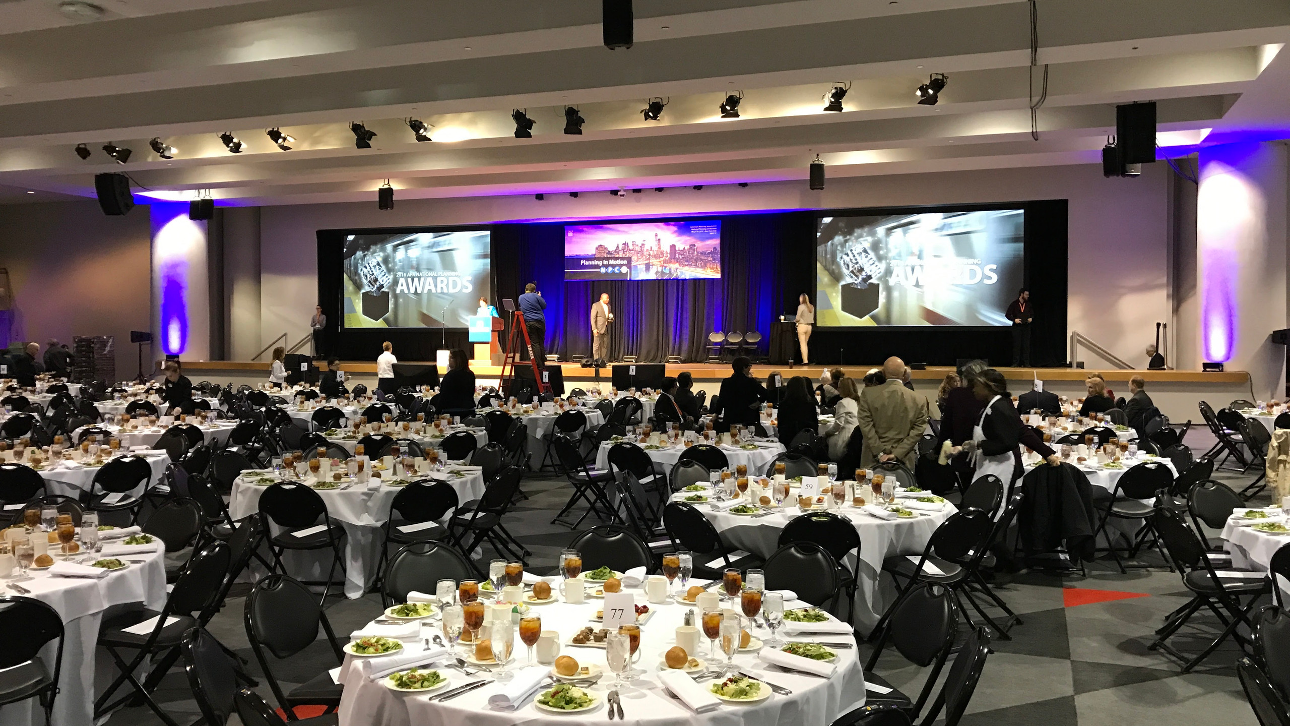 The APA Awards Luncheon Banquet Hall