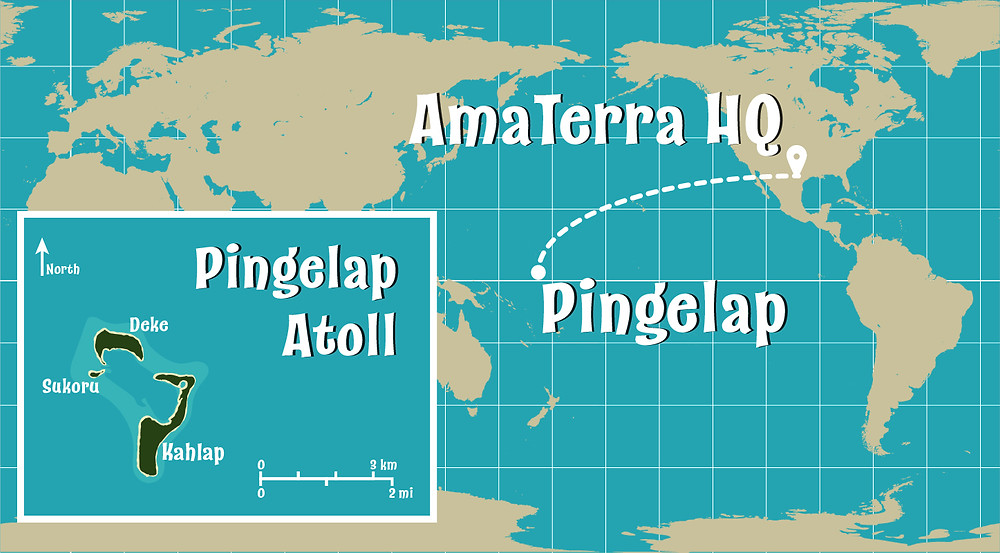 Map showing Pingelap Atoll.