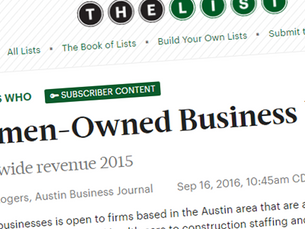 "AmaTerra Environmental #26 On Austin Business Journal's ""List"" for Women Owned Busines"