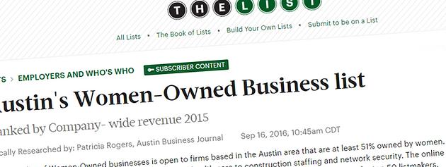"""AmaTerra Environmental #26 On Austin Business Journal's """"List"""" for"""