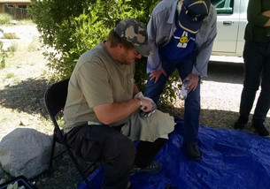 AmaTerra demonstrates ancient technology at the 2016 New Mexico Archaeology Fair