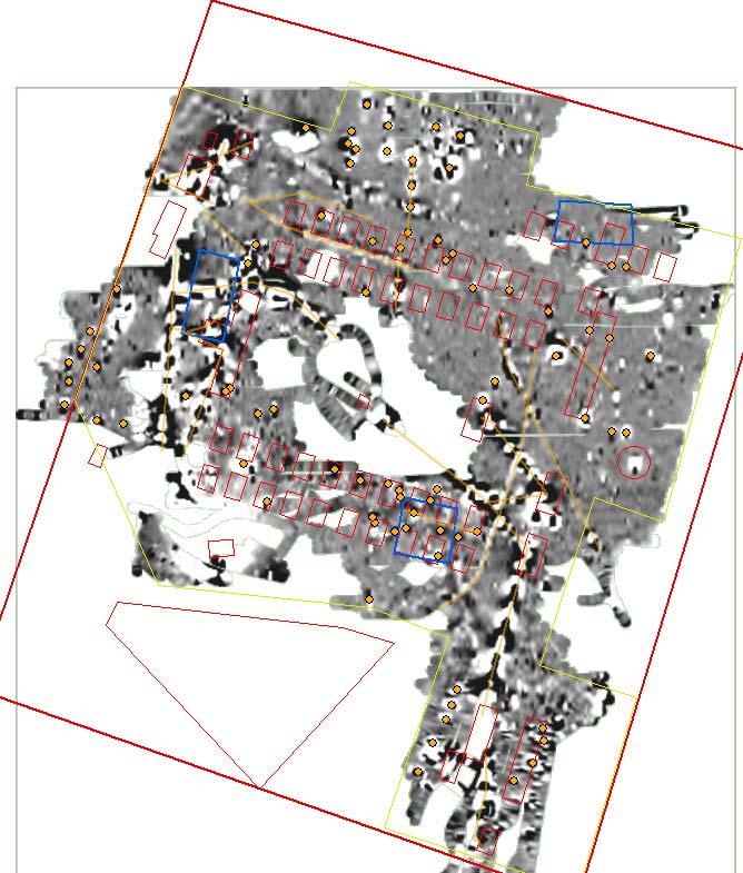 Magnetic survey map