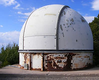 White Sands Missile Range astrodome on Mule Peak, west of Alamogordo, New Mexico.