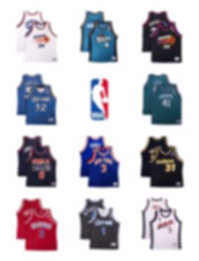 lineup nba basketball jersey maillot champion collector iverson oneil suns jordan friperie paris boutique vintage