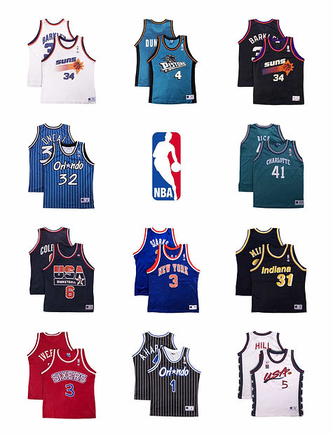 lineup nba basketball jersey maillot champion collector iverson oneil suns jordan friperie paris boutique vintage
