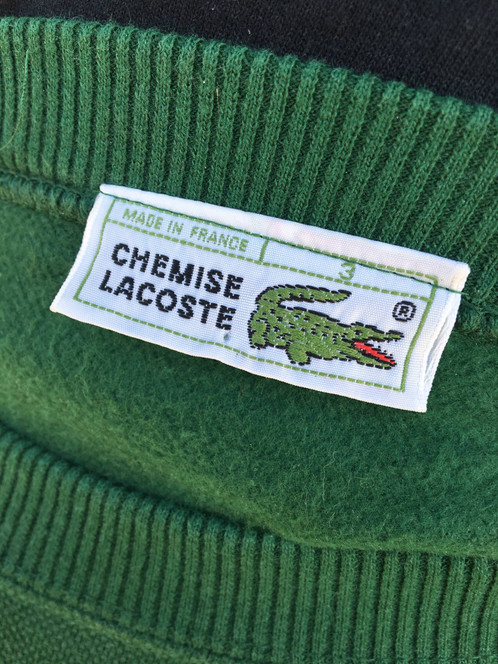 Pull 80s Vintage TailleM Pull Lacoste Lacoste H9Ibe2WDYE