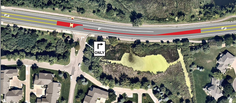 Proposed reconfiguration of Schmidt Lake Road