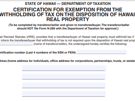 Form N-289 and Non-Recognition Provisions