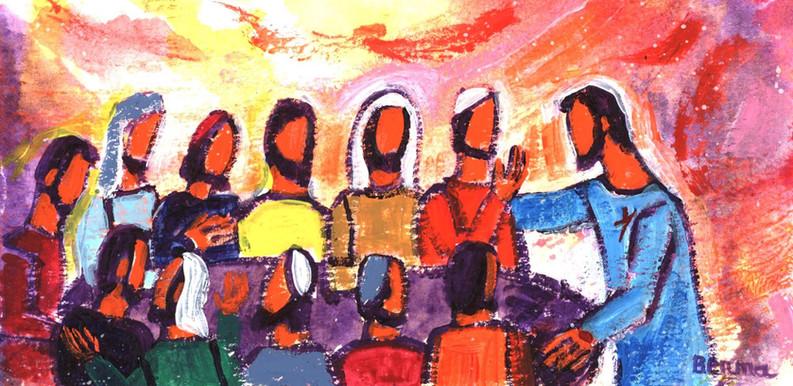 29_Jésus souffle l'Esprit sur les disciples