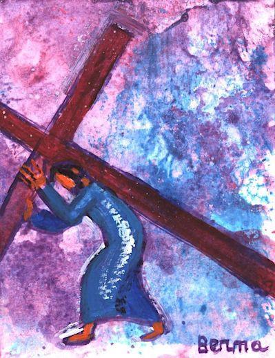 8_Jésus porte sa croix