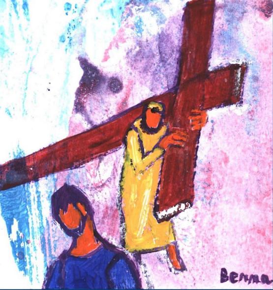 11_Simon de Cyrène porte la croix