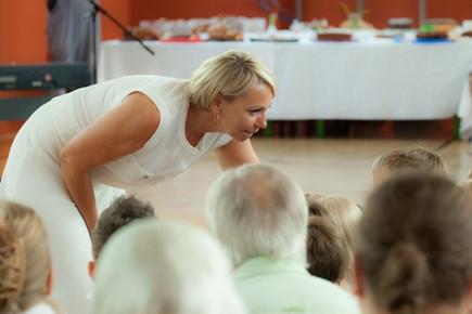 Frau Schneider, unsere Schulleiterin