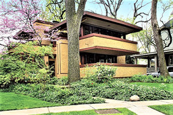 Afternoons exploring Oak Park, Frank Lloyd Wright Houses, Chicago