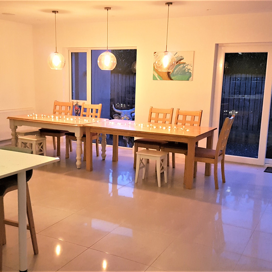 The G House dining area