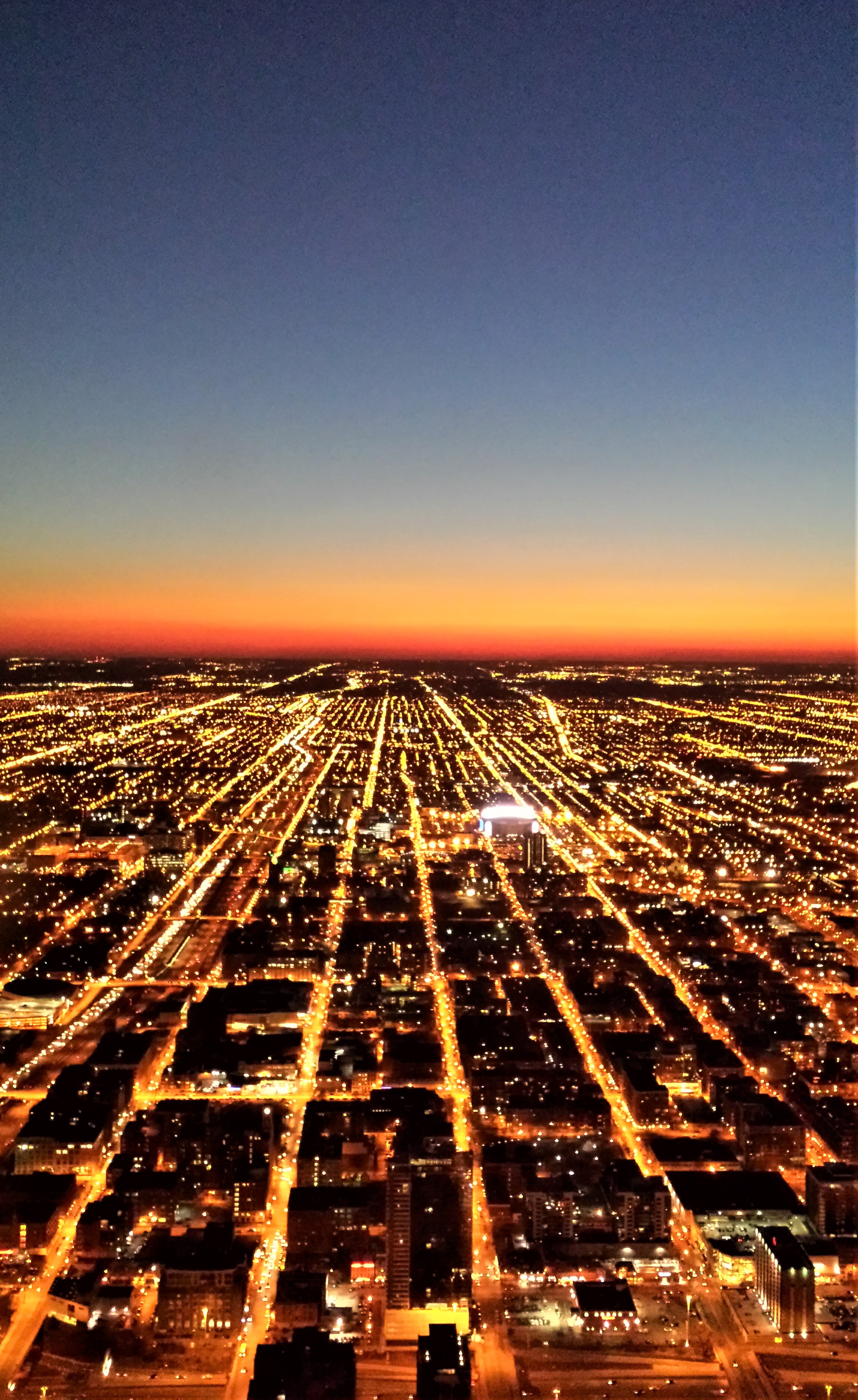 Chicago Grid From the Sears Tower