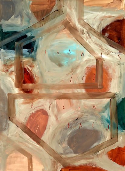 Arpaïs Du Bois. charmer les décombres, 2020, 150 x 110 cm, mixed media on paper, courtesy