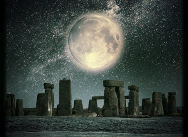 Full Moon Soul Stretching Stone Henge