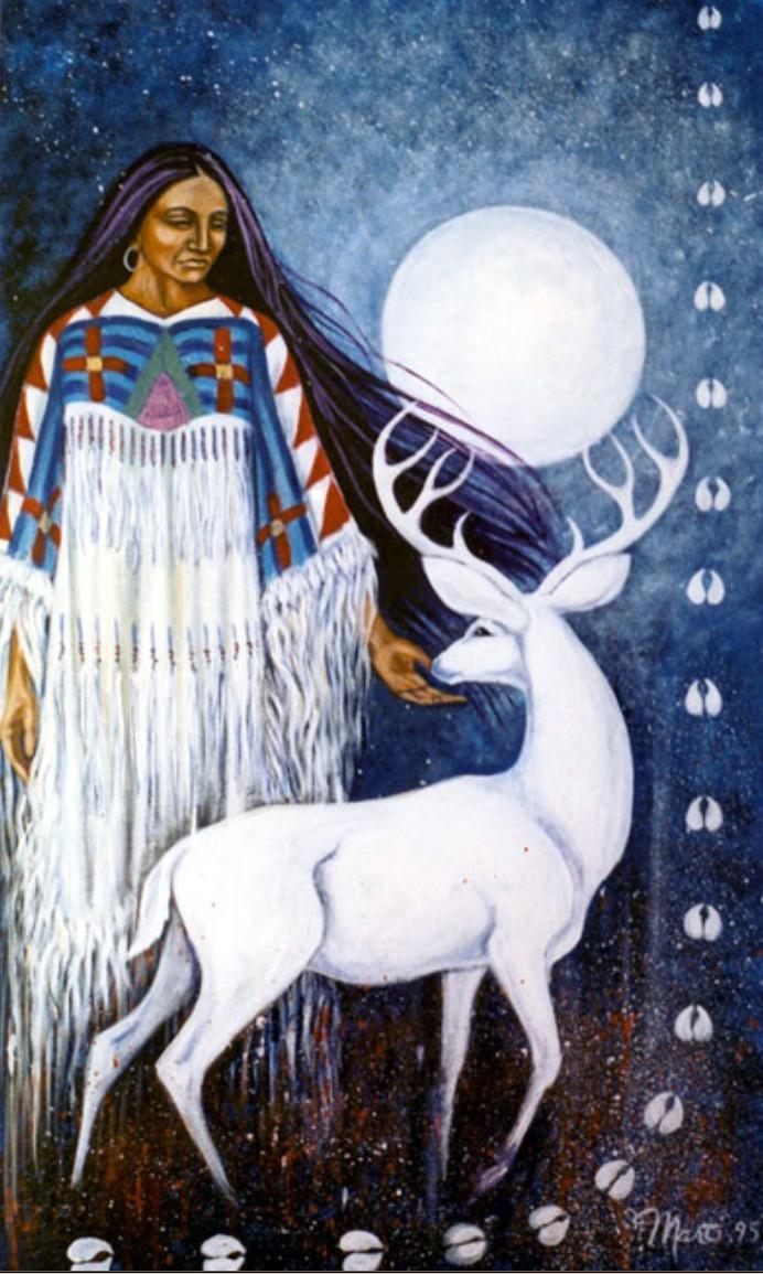 Marti White Deer Painting