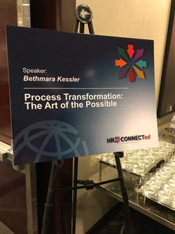 HR Connected event signs