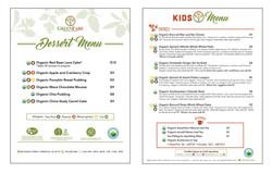 Kids and Dessert Menus