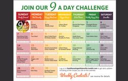 9 a Day calendar
