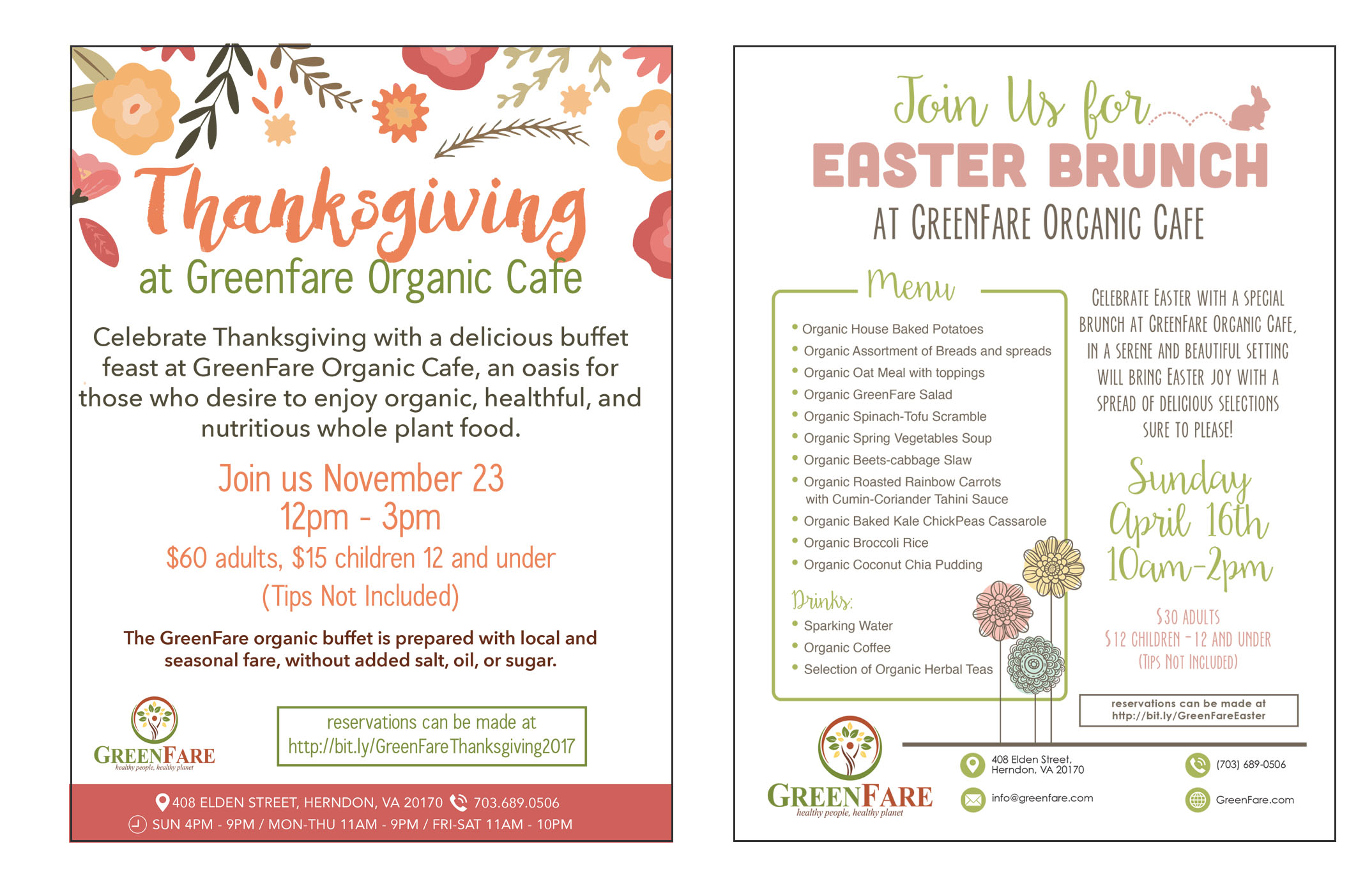 GreenFare Holiday Flyers