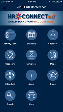 HR Connected App menu