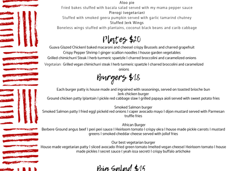 THIS WEEK'S MENU BRW 4/22 - 4/26