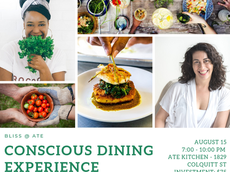 Events @ Ate : A Conscious Dining Series.. It's 5 days away!