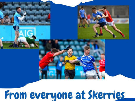 Best of Luck to our Dublin U20 Players - Sat. 19th, 2:30pm.