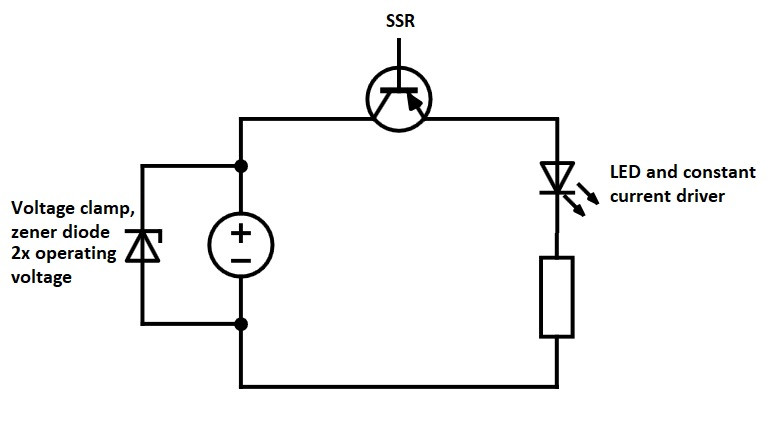How to switch LED with solid state relay