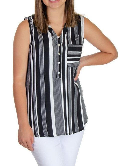 Esqualo / Blouse stripe slv/lss