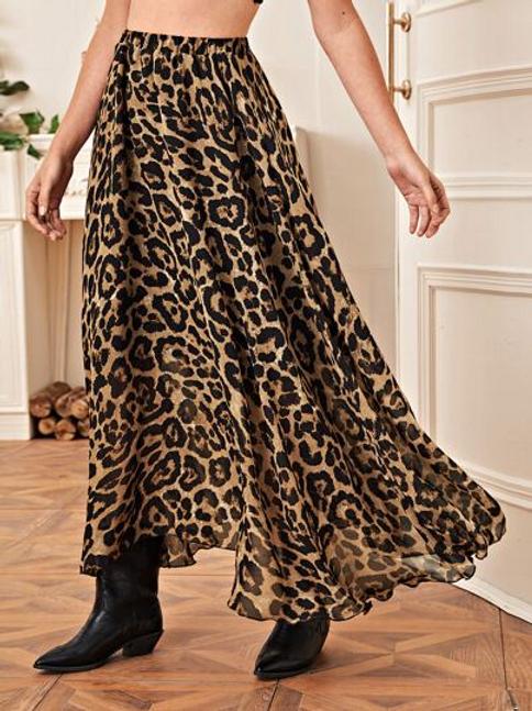 Esqualo / Skirt Feather Print