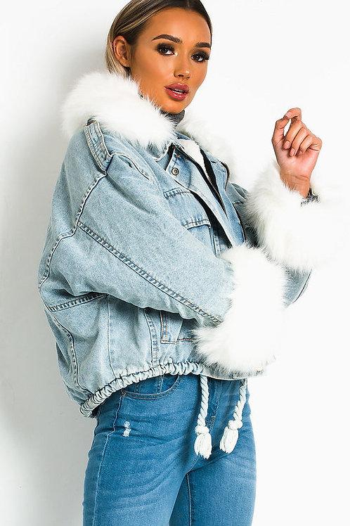 Esqualo / Jacket Jeans Fur