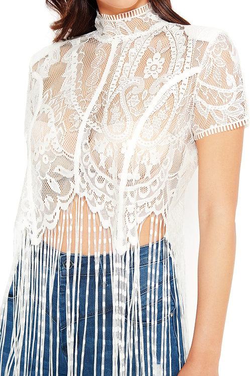 Esqualo / Top lace fringes