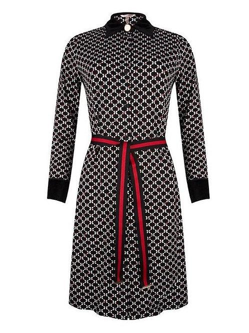 Esqualo / Dress belt royal print