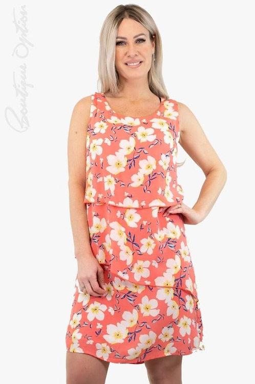 Esqualo / Dress Layers print daisy flower