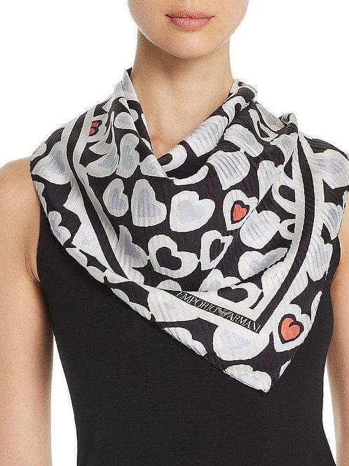Esqualo / Blouse heart print scarf