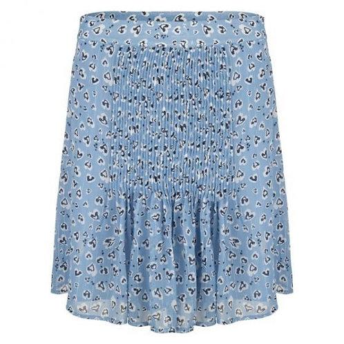 Esqualo / Skirt plisse animal tile print