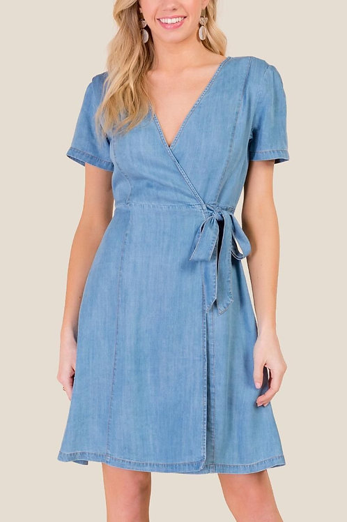 Esqualo / Dress tencel wrap around