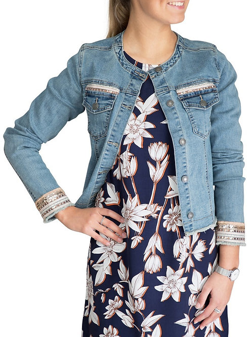 Esqualo / Jacket jeans embellis
