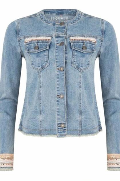 Esqualo / Jacket jeans garment dye