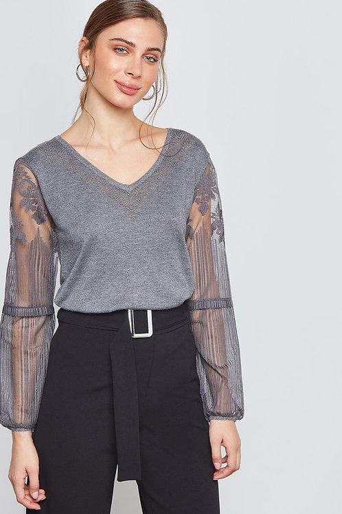 Esqualo / Sweater Mesh/Lace